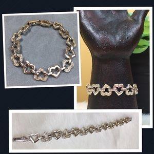 Avon Jewelry - Avon Nina Ricci Silver Tone Heart Link Bracelet
